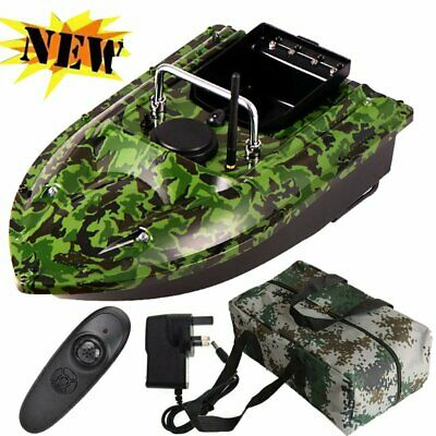 500M Wireless RC Fishing Bait Boat Camo With Handbag 2 Motor Single Hand Control