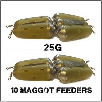 Maggot Feeders 10 Feeder Bomb 25g maggot Feeders coarse fishing feeders