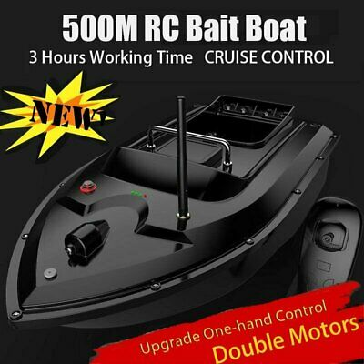 RC Fishing Bait Boat w/ 2 Motors Fish Finder 500M Wireless Single Hand Control
