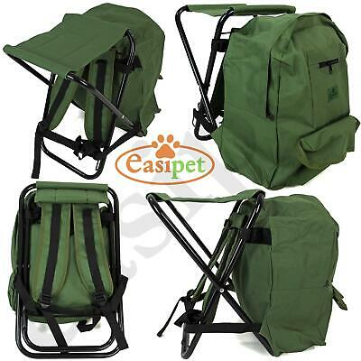 Fishing Tackle Stool Backpack Seat Bag Camping Hiking Rucksack Chair Easipet