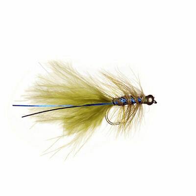6 x Goldhead Blue Flash Damsel - Fly Fishing Trout Flies