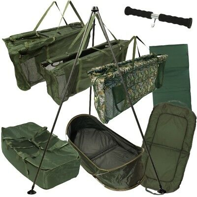 NEW FISHING WEIGH SLINGS CARP CRADLES LANDING UNHOOKING MATS WEIGH TRIPODS NGT